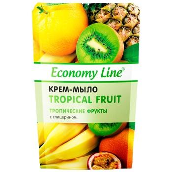 Крем-мыло Economy Line Тропические фрукты с глицерином 460г