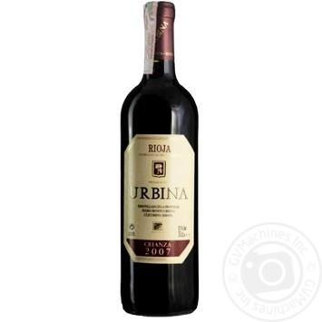 Rioja Urbina Crianza Wine red dry 13.5% 0,75l - buy, prices for CityMarket - photo 1