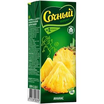 Нектар Сочный фрукт ананасовий т/п 200мл - купити, ціни на CітіМаркет - фото 1