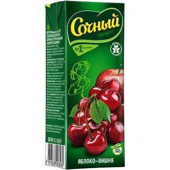 Nectar Juicy with apple for children from 5 months 200ml tetra pak Belarus - buy, prices for CityMarket - photo 1