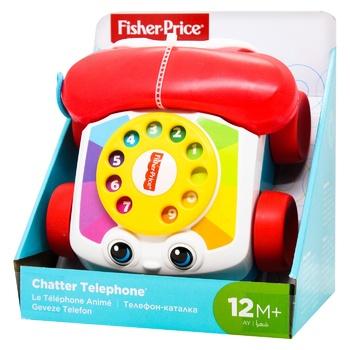 Іграшка-каталка Fisher-Price Веселий телефон - купити, ціни на Ашан - фото 2