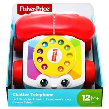 Іграшка-каталка Fisher-Price Веселий телефон - купити, ціни на Ашан - фото 1