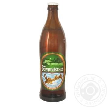 Пиво Бердичівське Жигулівське живе світле непастеризоване 3.7%об. 500мл - купити, ціни на Novus - фото 1