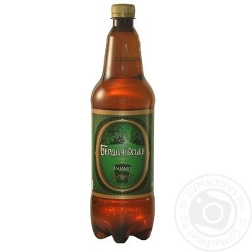 Пиво Бердичівське Хмільне живе світле непастеризоване 3.7%об. 1000мл