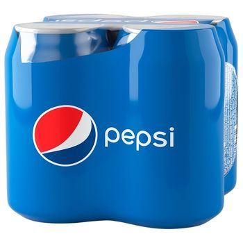 Напій Pepsi сильногазований 4шт х 0,33л з/б