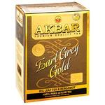 Чорний чай Акбар Ерл Грей Голд цейлонський крупнолистовий з бергамотом 80г