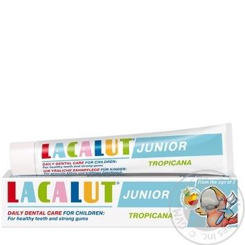Паста зубная детская Лакалут Тропикана 75мл - купить, цены на МегаМаркет - фото 1
