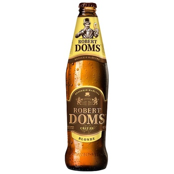 Пиво Львовское Robert Doms светлое 4.5% 0,5л