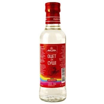 Уксус Akura спиртовой ароматизированный для приготовления риса для суши 3% 200мл - купить, цены на Novus - фото 1