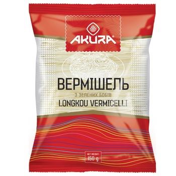Макаронные изделия Akura Вермішель из зеленых бобов 150г - купить, цены на Novus - фото 1