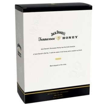 Jack Daniel's Tennessee Honey Whiskey 35% 0.7l + two glasses in a gift box - buy, prices for Novus - image 2