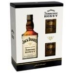 Виски Jack Daniel's Tennessee Honey 35% 0.7л + два бокала в подарочной упаковке
