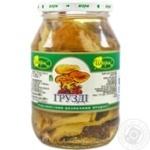 Mushrooms milk mushroom Charme pickled 480g glass jar Ukraine