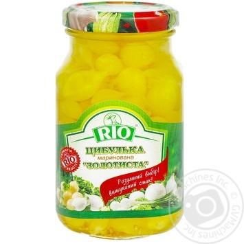 Лучок Rio золотистый маринованный 300мл - купить, цены на Метро - фото 1