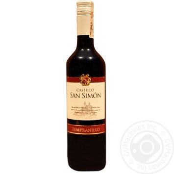 Вино Castillo San Simon Tempranillo 12.5% 750мл - купить, цены на СитиМаркет - фото 1