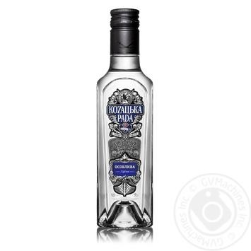 Kozatska Rada Special vodka 40% 0,25l - buy, prices for Novus - image 1