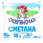 Sour cream Slovyanochka 15% 406g sachet Ukraine - buy, prices for Furshet - image 1