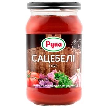 Соус томатный Руна Сацебели 485г - купить, цены на Ашан - фото 1