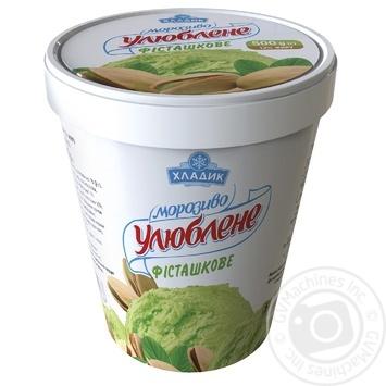 Мороженое Хладик Любимое фисташковое 500г картонный стакан
