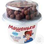 Десерт творожный Смачненький Машенька злаковые шоколадные шарики 5% 155г - купить, цены на Фуршет - фото 1