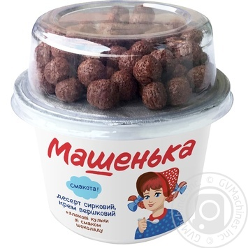 Mashenka Smachnenkiy Cottage Cheese Dessert With Chocolate-Сereal Balls 5% 155g