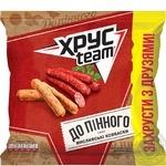 Сухарики Хрусteam со вкусом охотничьих колбасок 110г