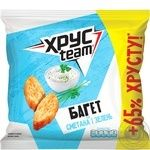 Khrusteam Baguette Sour Cream and Greens Flavored Crackers 100g