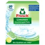 Таблетки для мытья посуды в посудомойных машинах Frosch Лимон 50шт 20г