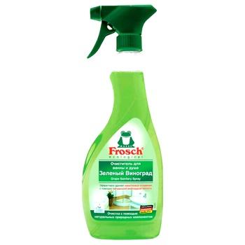Средство для чистки ванн Frosch Зеленый виноград 500мл - купить, цены на Ашан - фото 1