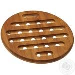 Подставка под горячее круглая бамбуковая 20х1,5см