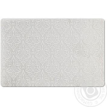 Коврик Zeller Винтаж белый под тарелку 43.5х28.5см - купить, цены на МегаМаркет - фото 1