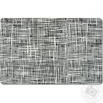 Килимок під тарілку Абстракція, 43,5х28,5см, чорний, пластик