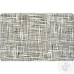 Килимок під тарілку Абстракція, 43,5х28,5см, сірий, пластик
