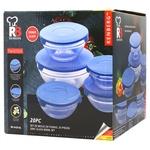 Набір ємностей Bergner скляних 20 предметів синій