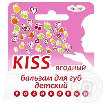 Бальзам En`jee Kiss Ягодный для губ для детей 6мл - купить, цены на Ашан - фото 1