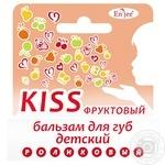 Бальзам En`jee Kiss Фруктовый для губ для детей 6мл - купить, цены на Ашан - фото 1