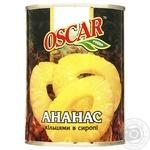 Ананаси Оскар кільцями в сиропі 565г - купити, ціни на МегаМаркет - фото 1