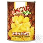 Pineapple chunks Oscar in syrup 565g - buy, prices for Novus - image 1