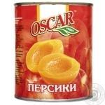 Peach halves Oscar in light syrup 820g