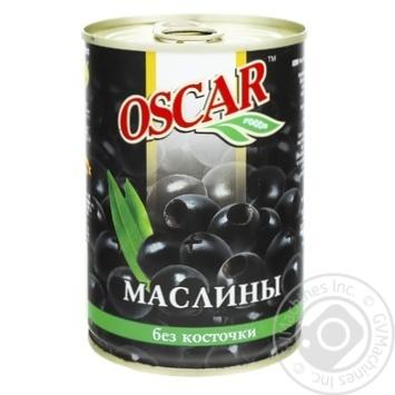 Маслины Оскар черные без косточки 432мл - купить, цены на Novus - фото 1