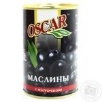 Маслины Оскар черные с косточкой 432мл