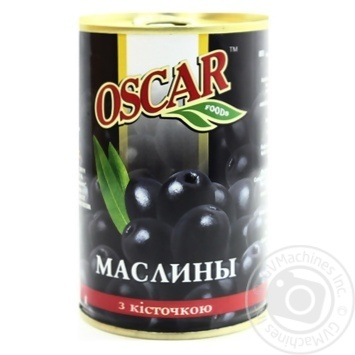 olive Oscar black with pit 425g can Spain - buy, prices for UltraMarket - photo 1