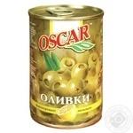 Оливки зеленые Oscar с лимоном 300мл - купить, цены на Novus - фото 1