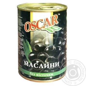 Oscar Pitted Black Olives 300ml - buy, prices for MegaMarket - image 1