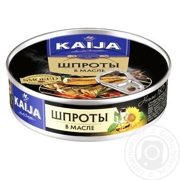 Шпроты Kaija в масле 160г - купить, цены на Novus - фото 1
