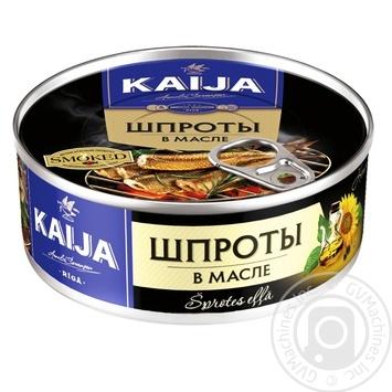 Шпроты Kaija в масле 240г - купить, цены на Novus - фото 1