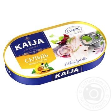 Сельдь KAIJA филе в масле 170г - купить, цены на Novus - фото 1