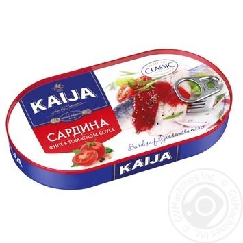 Fish sardines Kaija in sauce 170g can - buy, prices for Novus - image 1