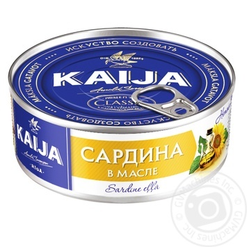Kaija in oil fish sardines 240g - buy, prices for Novus - image 1