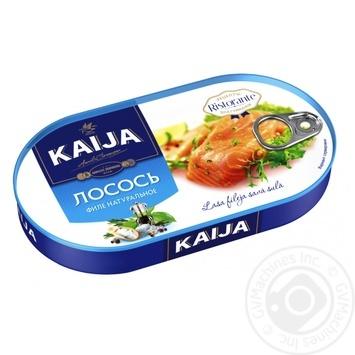 Лосось Kaija филе натуральное 170г - купить, цены на Novus - фото 1